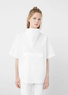 Premium - poplin blouse - Shirts for Woman | MANGO USA
