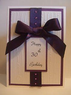 Elegant birthday card idea