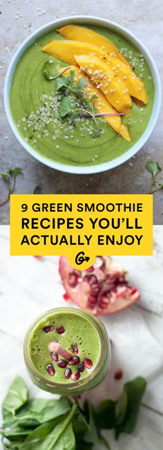 Healthy, and full of flavor, they'll have you sneaking superfoods into every meal! #healthy #smoothie #recipes http://greatist.com/eat/green-smoothie-recipes