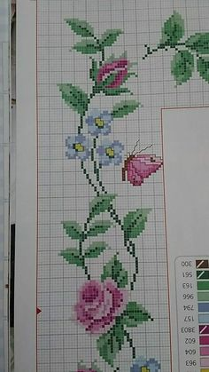 Tiny Cross Stitch, Easy Cross Stitch Patterns, Cross Stitch For Kids, Simple Cross Stitch, Cross Stitch Borders, Cross Stitch Flowers, Cross Stitch Designs, Cross Stitching, Cross Stitch Embroidery