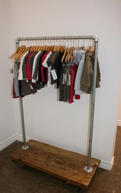 Recent Project: Rolling Racks. Ref. source - http://blog.recreativeworks.com/2010/01/recent-project-rolling-racks/