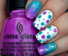Purple,Blue and,poke-a-dots I love this look! <3