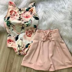 Hermoso Outfit 😍✨ Short Outfits, Outfits For Teens, Spring Outfits, Cool Outfits, Casual Outfits, Fashion 2018, Girl Fashion, Fashion Dresses, Fashion Looks