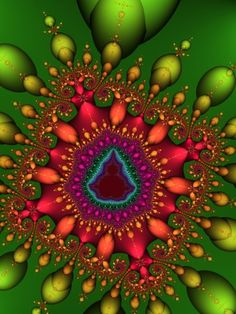 Mardi Gras Mandelbrot Fractal by Michael Aaron Coleman