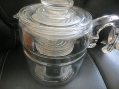 VTG 6 Cup 7756 B Pyrex Flamewear Coffee Pot Complete