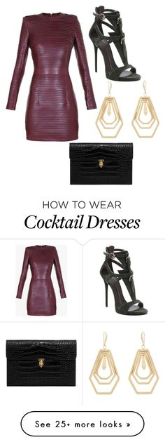 """Cocktail"" by ashgoins on Polyvore featuring Balmain, Giuseppe Zanotti, Kara by Kara Ross and Alexander McQueen"