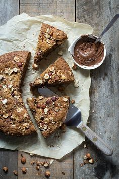 This awesome banana bread is a great way to use up any over-ripe bananas. Mixed with chopped hazelnuts and Nutella, it's a perfect treat for your coffee.