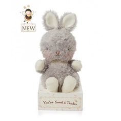 """What's wee and little?An adorable Wittle! Perfectly delightful gifts for all ages and occasions. Super soft fur with dainty embroidered face. Plush glacier gray bunny. Message on packaging """"You're Sweet & Tender."""" Surface wash/spot clean only. Size: 5 #bunniesbythebay #givegladdreams #stuffedanimals #babytoys #babygifts #plushtoys #babyshowergifts #stuffedbunny #bunny #bunnies"""