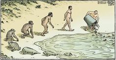 Darwin Evolution satirical illustration4