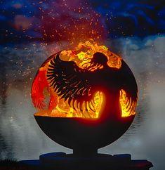 Fire Pit Sphere, Metal Fire Pit, Diy Fire Pit, Fire Pit Backyard, Fire Pits, Fire Pit Art, Fire Pit Gallery, Custom Fire Pit, Custom Metal
