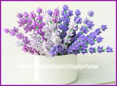 3D Lavender in different shades of violets