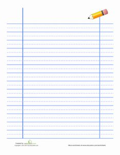 First Grade Handwriting Worksheets: Lined Handwriting Paper