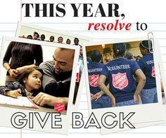Check out our article on the two resolutions that should definitely make your list this year! http://bit.ly/2j8FHyv  Hint: Give Back!  Or check out our volunteer page for volunteer opportunities: http://centralusa.salvationarmy.org/danecounty/volunteer