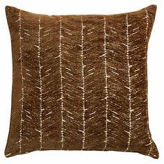 Coussin en tissu taupe 45x45cm TRONA