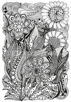 Modelo para libro de colorear. Étnicos, floral, retro, doodle, elemento de diseño tribal — Stock Illustration #103795458