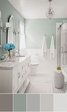 Bathroom color schemes how much budget bathroom remodel you need paint bathroom bathroom colors bathroom renovations . Neutral Bathroom Colors, Bathroom Color Schemes, Best Bathroom Colors, Colorful Bathroom, Budget Bathroom Remodel, Bathroom Renovations, Tub Remodel, Kitchen Remodel, Decorating Bathrooms