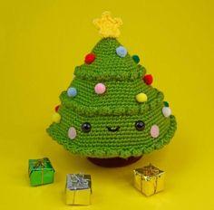 Amigurumi Christmas Tree - #christmas #XmasinJuly #ChristmasinJuly #amigurumi Crochet Christmas Trees, Small Christmas Trees, Christmas Tree Pattern, Christmas Crochet Patterns, Christmas Crafts, Crochet Ornaments, Crochet Snowflakes, Christmas Angels, Christmas Christmas