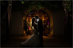 Night Wedding Shot - Pink and Gold Wedding Colors, Green Vintage Photography