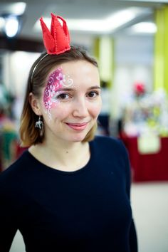 #me #facepainting #girl #russia #watercolor #flowers #pink #qrown