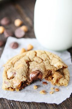 Butterscotch, Toffee, Chocolate Chip Cookie ~ These cookies are a favorite at our house!