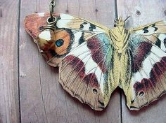 Moth Necklace Butterfly Pendant Autumn Wedding by MySelvagedLife on Etsy