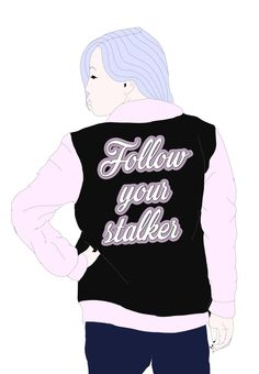 Embracing the feminine easthetics  Feminist illustrations  Dont afraid walking out at night #follow him back!