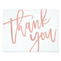 #wedding #thankyoucards - #Faux Rose Gold Foil Thank You Card