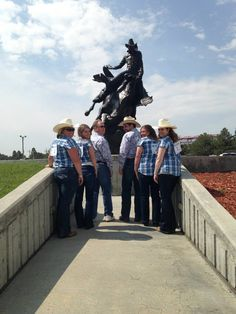 The Chamber Staff always had matching shirts at the Pardners In Prosperity Luncheon and now there are many businesses that attend that have fun matching attire.