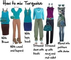 """""""How to Mix Turquoise"""" by imogenl on Polyvore"""