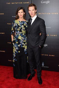 Benedict Cumberbatch blog :: Full length shot, Ben & Sophie - Imitation Game premiere :: NYC