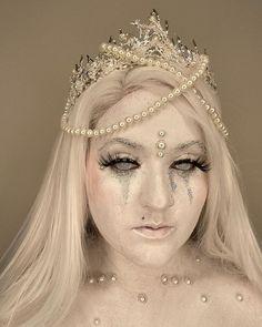 White Lenses, Cosplay, Crown, Princess, Mesh, Jewelry, Fashion, Moda, Corona