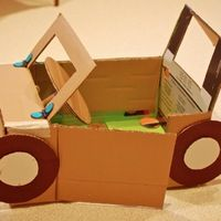 OK, so when I was a kid we used scrap cardboard to do this! This website lets you buy kits to make this stuff!