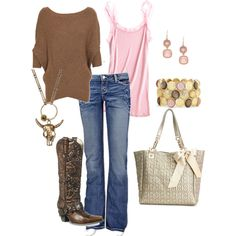 Brown & Pink Cowgirl Chic, created by bbricker39