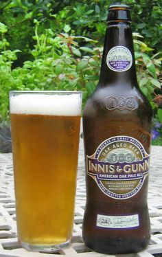 Innis and Gunn American Oak Pale Ale. Very pale with an interesting woody taste, but not much hop character. 7/10