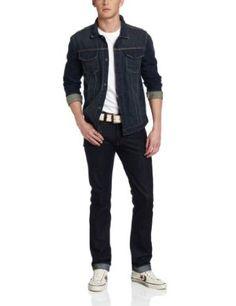 Calvin Klein Jeans Men's Petrol Denim Jacket, Wash, Large Calvin Klein Jeans. $79.50