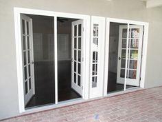 Check Out This Pair Of Double Door Inswing Bright White Stowaway Retractable Screen Doors That Our Team Instal Screen Door French Doors Retractable Screen Door