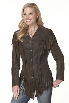 Rusty Spur Couture Cripple Creek Ghost Rider Fringe Jacket - LL69461A, ,