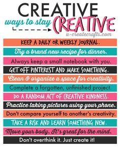 Inspiration: Creative Ways to Stay Creative