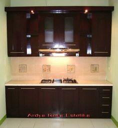 desain ruang dapur minimalis modern yang cantik gambar