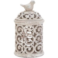Decorative Bird Jar.