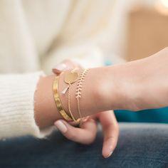 combinaison bracelet clyde et colette pompon gris clair jonc julie