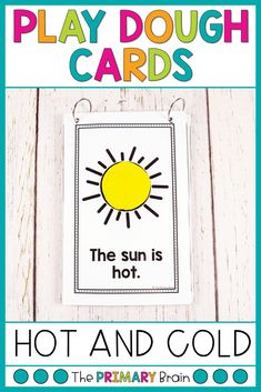 Work on fine motor skills while building hot and cold play dough mats. These hot and cold play dough cards help children build reading fluency while completing a hands on play dough activity. Just hole punch the cards to form a play dough book.