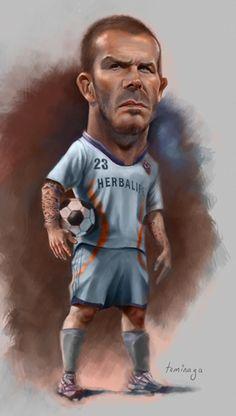 David Beckham  Artist: Nori Tominaga  website: http://www.artofnori.com.au/