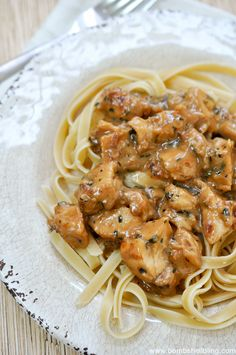 Teriyaki Chicken Alfredo - only took 30 mins to make! Yum!