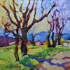 """""""Primavera Italiana"""" (Italian Spring): Dreama Tolle Perry, love this, different from her usual subjects."""