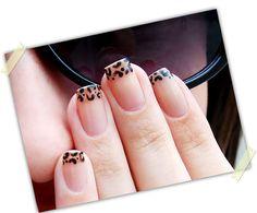 Wild french manicure