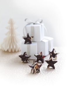 Fruit and nut chocolate stars