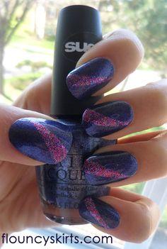 Tri-colored HD nail design
