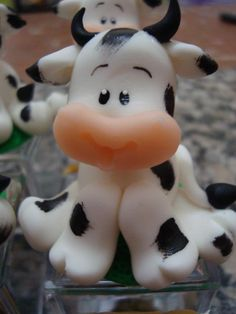 cute (white translucent?) clay cow. :3