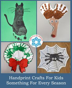 Handprints Crafts for the Kids, from Crafts For All Seasons